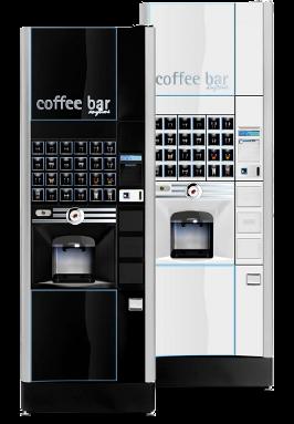 """Kaffeeautomaten LUCE X"""" Schwarz & Silber, Heißgetränkeautomaten Köln, Dhünn"""