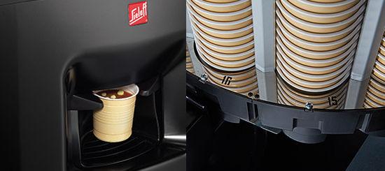 Kaffeeautomat Sielaff SielCup Details - Becherausgabe - Becherhalterung
