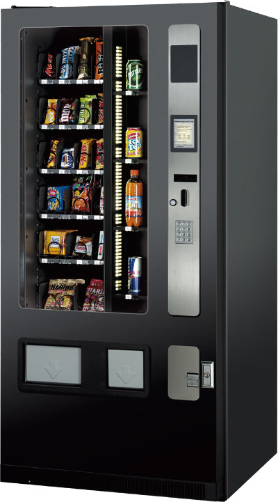 Verkaufsautomat SandenVendo 585 Combi, Vendingautomaten Dhünn, Köln